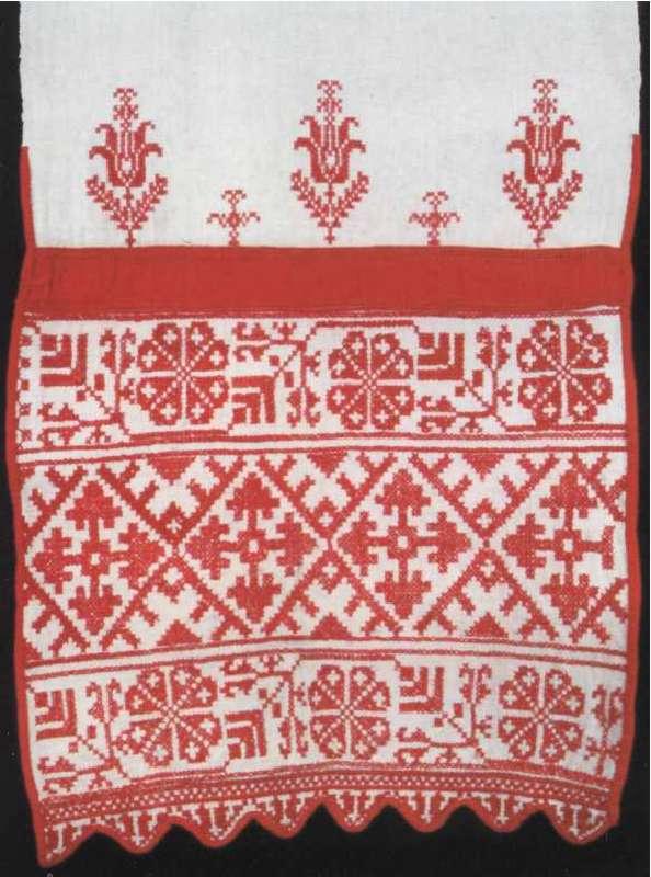 Орнамент на полотенце вышивка